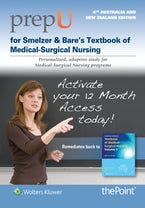 PrepU for Farrell's Smeltzer & Bare's Textbook of Medical-Surgical Nursing Australia/New Zealand