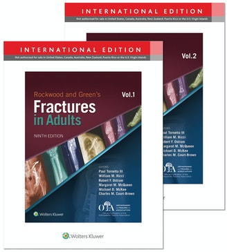 ROCKWOOD AND GREENS FRACTURES IN ADULTS 3 VOL SET 9/E2019 HB
